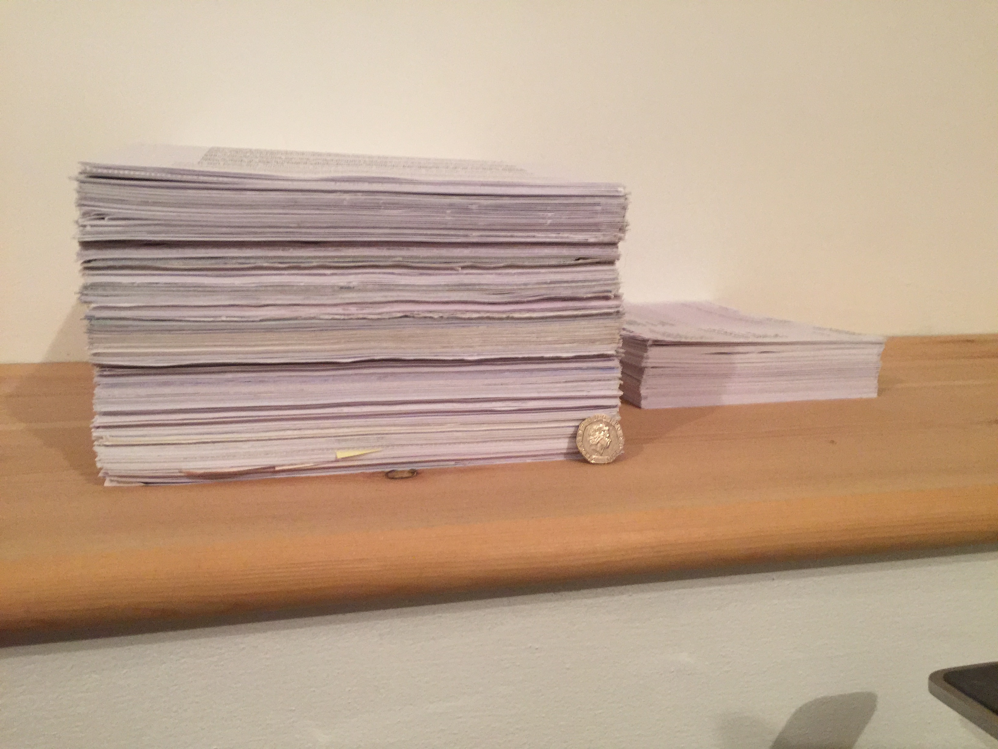 Initial Pile of Scanned Docs